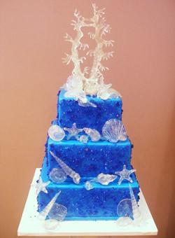 Top 10 di mare a tema torte nuziali per l estate abiti sposa for Decorazioni torte tema mare