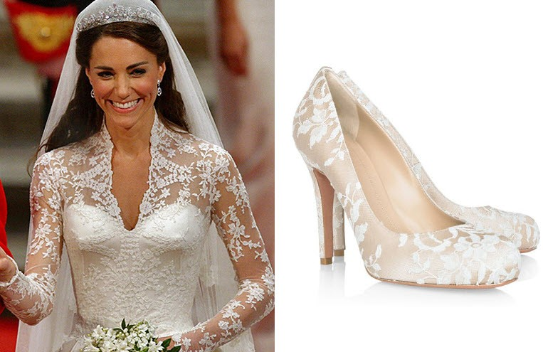 Scarpe Da Sposa Con Pizzo.Kate Middleton Di Scarpe Da Sposa Abiti Sposa